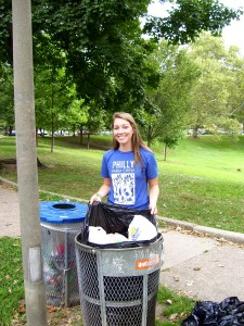 Jessica Plummer is ready to clean up the park tomorrow morning, Saturday, Oct. 4. Can you pitch in for an hour & help her?
